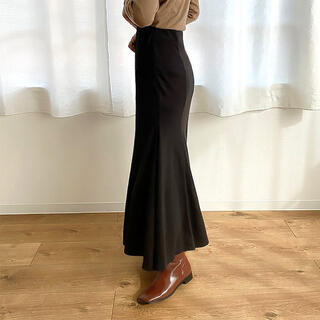 dholic - nugu mermaid cotton long skirt black