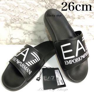 アルマーニ(Armani)の【未使用】EA7 シャワー サンダル 26cm エンポリオ アルマーニ  黒×黒(サンダル)
