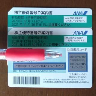 エーエヌエー(ゼンニッポンクウユ)(ANA(全日本空輸))のANA株主優待2枚組(その他)