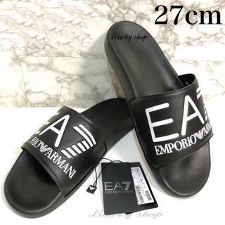 アルマーニ(Armani)の【未使用】EA7 シャワー サンダル 27cm エンポリオ アルマーニ  黒×黒(サンダル)