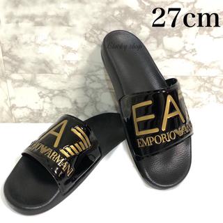 アルマーニ(Armani)の【未使用】EA7 シャワーサンダル 27cm エンポリオ アルマーニ 黒×金(サンダル)