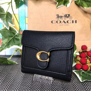 COACH - COACH コーチ 二つ折り財布 ブラック 黒 タビー 新作 新品
