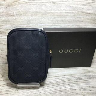 Gucci - GUCCI グッチ シガレットケース ポーチ GGキャンパス ネイビー