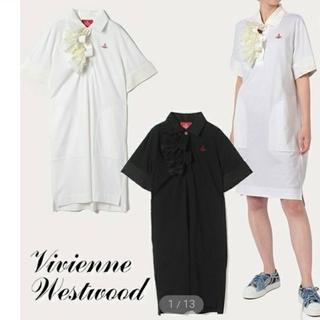 Vivienne Westwood - viviennewestwood フリル 半袖 ポロシャツ ワンピース