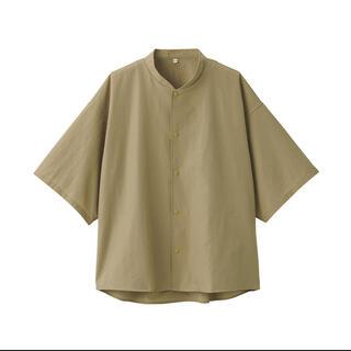MUJI (無印良品) - ムジラボ 風を通すスタンドカラー半袖シャツ S〜M 男女兼用