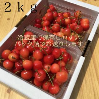 山形県産さくらんぼ【規格外】佐藤錦2キロ(フルーツ)