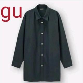 ジーユー(GU)のGU シャツコート(長袖)NT+E ブルー XLサイズ(シャツ)