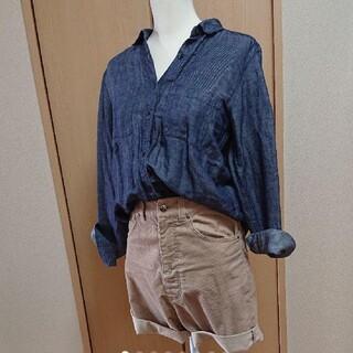 ジーユー(GU)のGUデニムシャツ&editionのハーフパンツ(シャツ/ブラウス(長袖/七分))