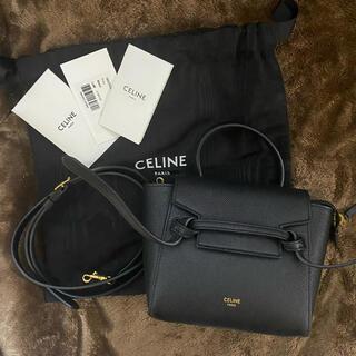 セリーヌ(celine)のceline ピコベルトバッグ ブラック(ショルダーバッグ)