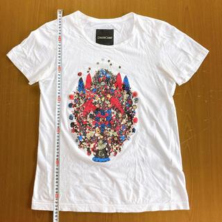 ドレスキャンプ(DRESSCAMP)のドレスキャンプ カラフルアートプリントホワイトカットソー サイズ46(Tシャツ/カットソー(半袖/袖なし))