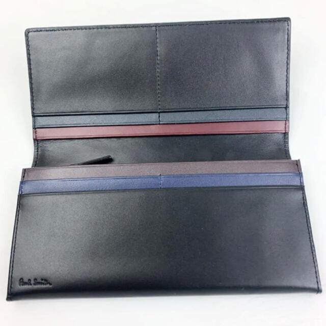 Paul Smith(ポールスミス)の【新品】Paul Smith ポールスミス スムースレザー 黒 かぶせ長財布 メンズのファッション小物(長財布)の商品写真