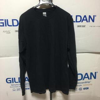 ギルタン(GILDAN)のGILDANギルダン☆ロンT☆長袖無地Tシャツ☆ポケット無し☆ブラックL黒(Tシャツ/カットソー(七分/長袖))