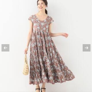 IENA - MARIHA 草原の虹のドレス ハーフスリーブ◆