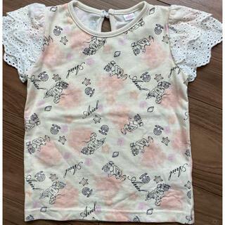 ディズニー(Disney)の肩レース 総アリエル柄 Tシャツ(Tシャツ/カットソー)