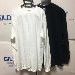 ギルタン(GILDAN)のGILDANギルダン☆ロンT☆ポケット無し☆ブラック&ホワイト☆白黒Lセット(Tシャツ/カットソー(七分/長袖))