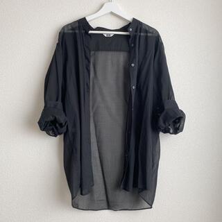 UNIQLO - UNIQLO バンドカラーシアーシャツ