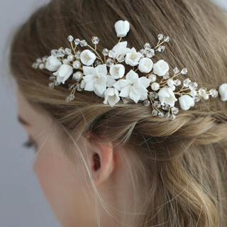 ヘッドドレス 髪飾り 花 結婚式 ウェディング