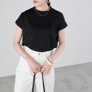 coen - 新品!Chaco closet モックネックフレンチスリーブTシャツ