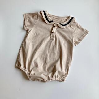 韓国子供服 セーラーロンパース 70
