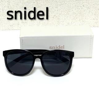 snidel - ★着画あり★ snidel スナイデル ドロップフレームサングラス 黒