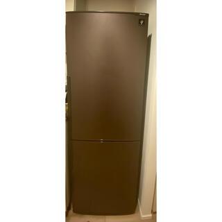 SHARP SJ-PD27Y 冷蔵庫 ブラウン 茶色