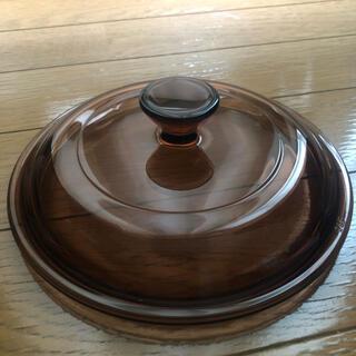 パイレックス(Pyrex)の貴重 デッドストック品 蓋のみ vision  ビジョン 昭和 レトロ ガラス鍋(鍋/フライパン)