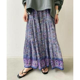 L'Appartement DEUXIEME CLASSE - 【BLUE BOHEME/ブルーボヘム】Cotton Tiered Skirt
