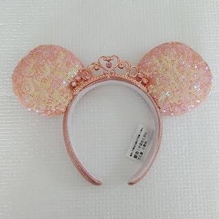 Disney - 海外ディズニープリンセス ティアラ ピンクスパンコールカチューシャ