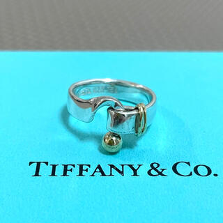 Tiffany & Co. - ティファニー フック&アイ リング 925 750 ラブノット 8号