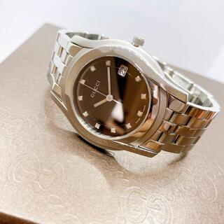 Gucci - 稼働品 人気【GUCCI グッチ】5500M 11Pダイヤモンド 腕時計 メンズ