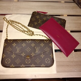 LOUIS VUITTON - 【美品】ルイヴィトン ポシェット・フェリシー モノグラム ポシェット 確実正規品