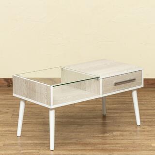 センターテーブル 引き出し付 ローテーブル おしゃれ(ローテーブル)