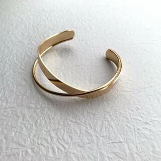 クロスバングル  ブレスレット シンプル ゴールド 韓国 イエナ beam