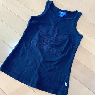 アディダス(adidas)のadidas アディダス レディース ロゴ ネイビー タンクトップ(カットソー(半袖/袖なし))