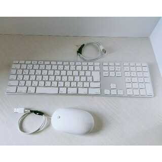 アップル(Apple)のApple A1152マウスとA1243キーボード(PC周辺機器)