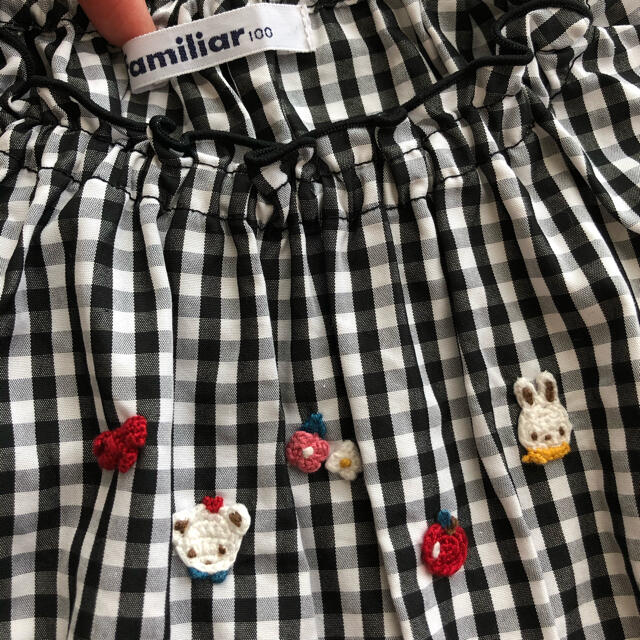 familiar(ファミリア)のファミリア チュニック 100 キッズ/ベビー/マタニティのキッズ服女の子用(90cm~)(Tシャツ/カットソー)の商品写真
