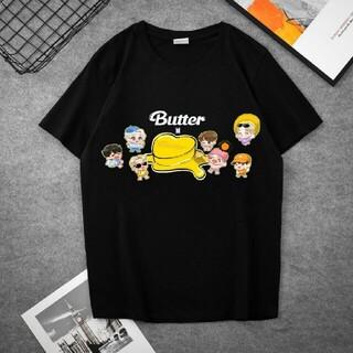 ボウダンショウネンダン(防弾少年団(BTS))のBTS 防弾少年団 BTS Butter Tシャツ ブラック(Tシャツ(半袖/袖なし))