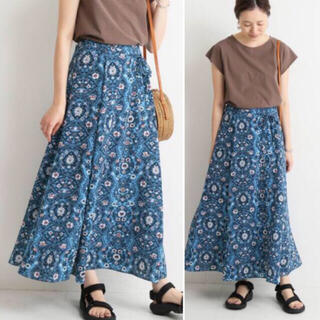 IENA SLOBE - 2019ss  モチーフフラワーロングスカート