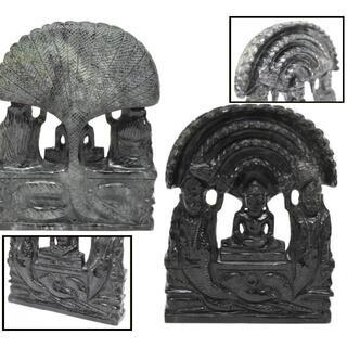 清時代 仏像古墨玉牌 天然墨玉石彫刻 黒翡翠 一点もの 年代物 WWFT039(彫刻/オブジェ)