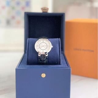 ルイヴィトン(LOUIS VUITTON)の美品☆ ルイヴィトン 8Pダイヤ タンブールスリム 腕時計(腕時計)