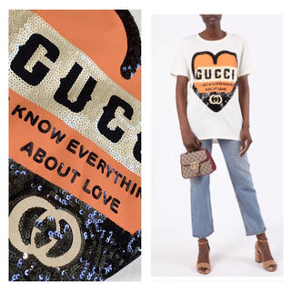 グッチ(Gucci)のGUCCI  2020ss 未使用 ロゴ スパンコール Tシャツ (Tシャツ(半袖/袖なし))