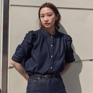 moussy - MOUSSY GATHER SLEEVE DENIM ブラウス ワンウォッシュ