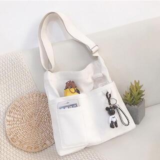 ◯23 ショルダーバッグ  ☆白(ホワイト) A4 トートバッグ マザーズバッグ
