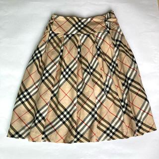 バーバリーブルーレーベル(BURBERRY BLUE LABEL)のバーバリー ノバチェック フレアスカート(ひざ丈スカート)
