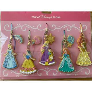 Disney - ディズニーランド プリンセス ストラップ キーホルダー クッキー バラ売り