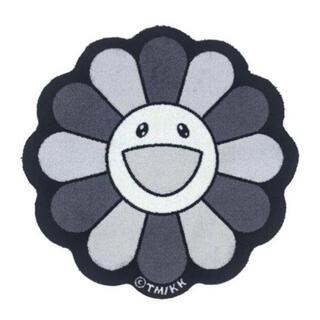 Flower Floor Mat / Black × White
