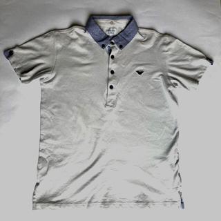アルマーニ ジュニア(ARMANI JUNIOR)のアルマーニジュニア ポロシャツ グレー 14A(Tシャツ/カットソー)