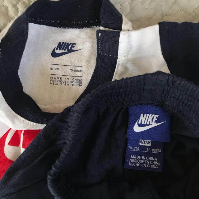 NIKE(ナイキ)のNIKE☆新品☆Tシャツ+ハーフパンツ9-12month/80㎝ キッズ/ベビー/マタニティのベビー服(~85cm)(Tシャツ)の商品写真