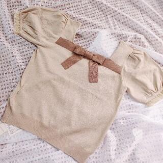 ロディスポット(LODISPOTTO)のlodispotto リボン トップス ブラウス(カットソー(半袖/袖なし))