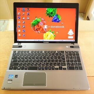 東芝 - Windows10/i7/8G/SSD/ブルーレイ 東芝T652ハイエンド